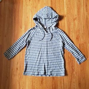 Gap design crafted grey stripped hoodie